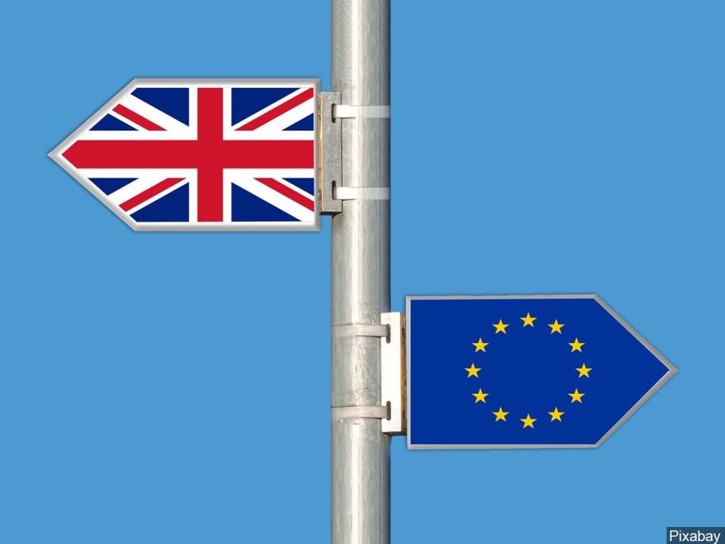 British flag & European Union flag
