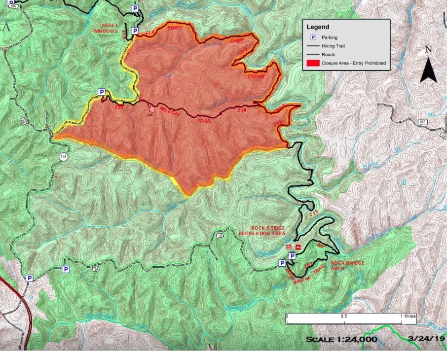 """""""The Wildcat Ridge area of Clifty Wilderness in the Red River Gorge is now reopened for public use."""""""