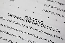 Expungement of criminal record document - generic image