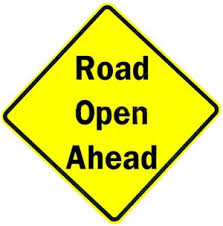 Road Reopens Sign