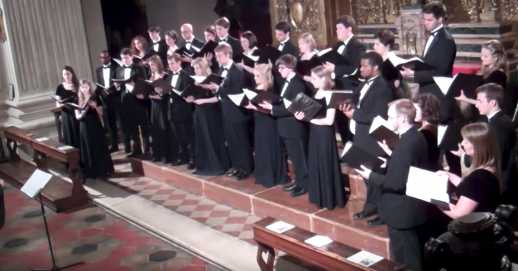 UK Chorale performs during a tour of Italy in 2013