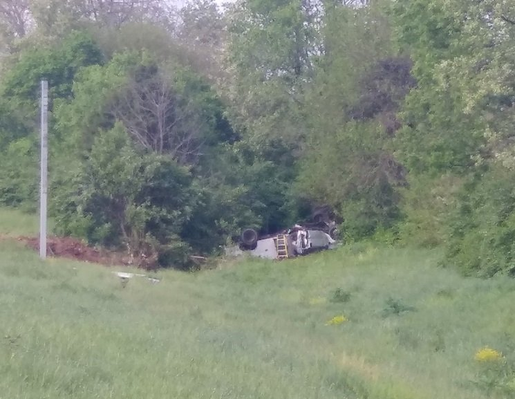 Driver fell asleep and went off the road