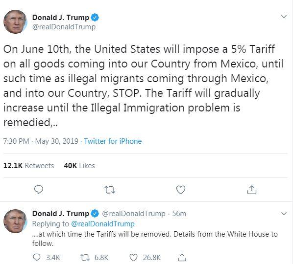 President Donald Trump's Tweet