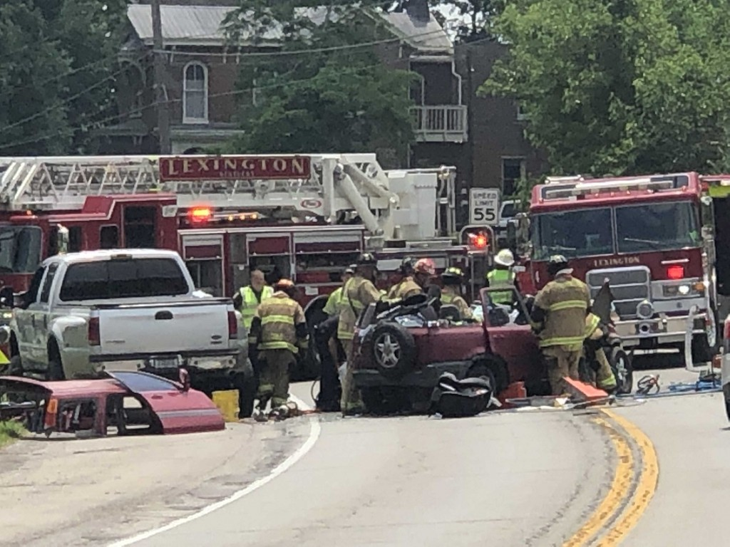 Accident on Georgetown Road and Berea Road.