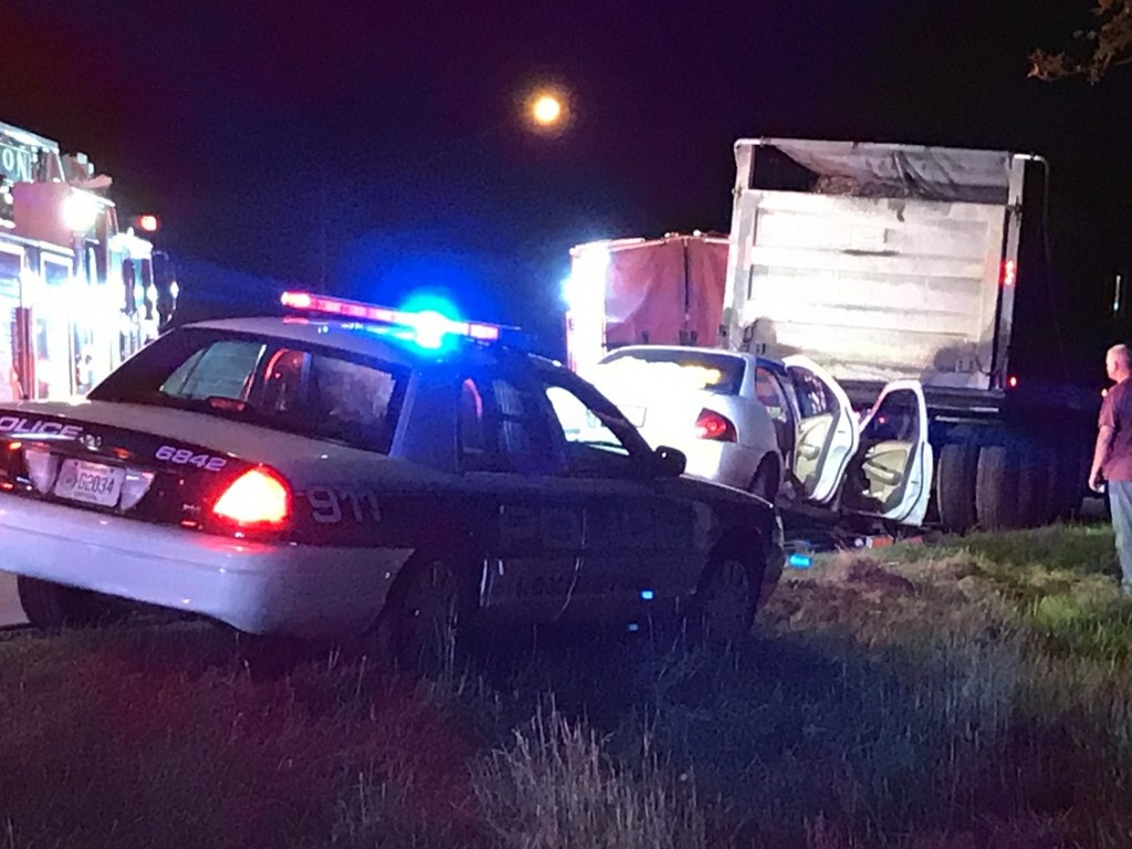 A car and dump truck crashed on I75.