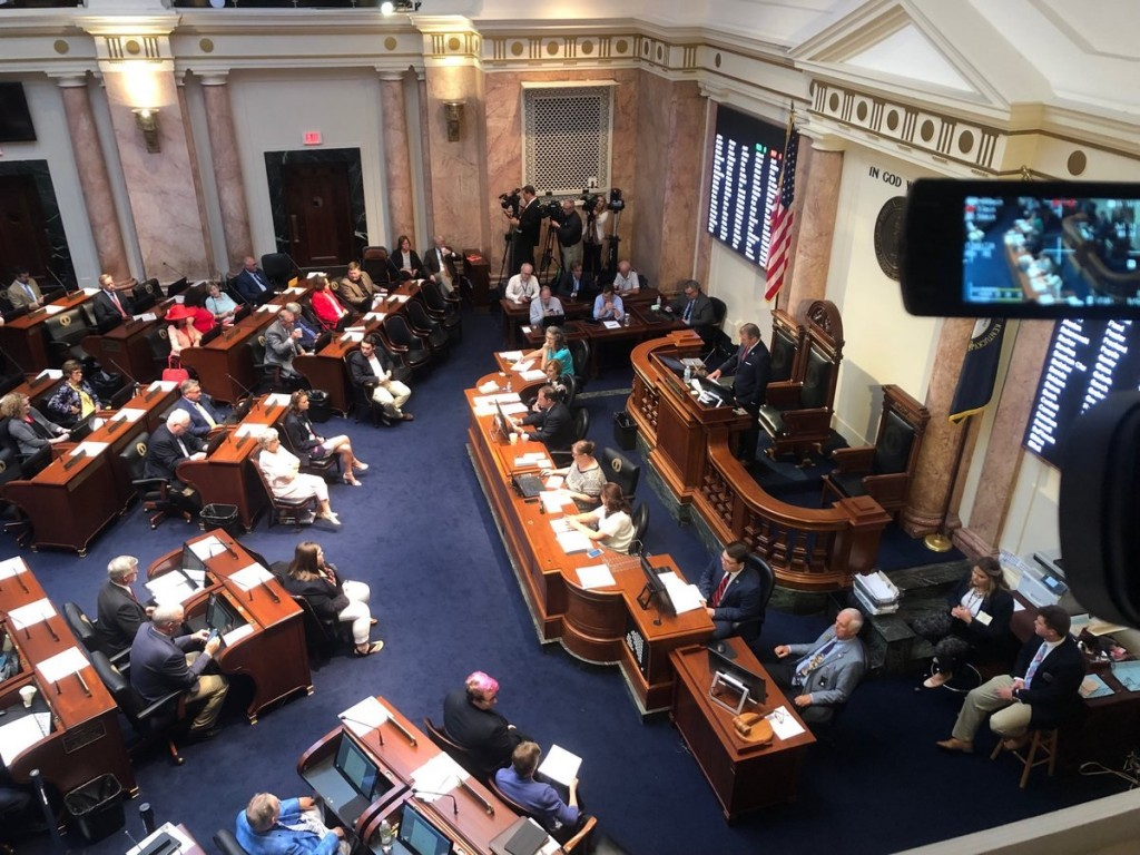 Kentucky state legislature on day 1 of special session