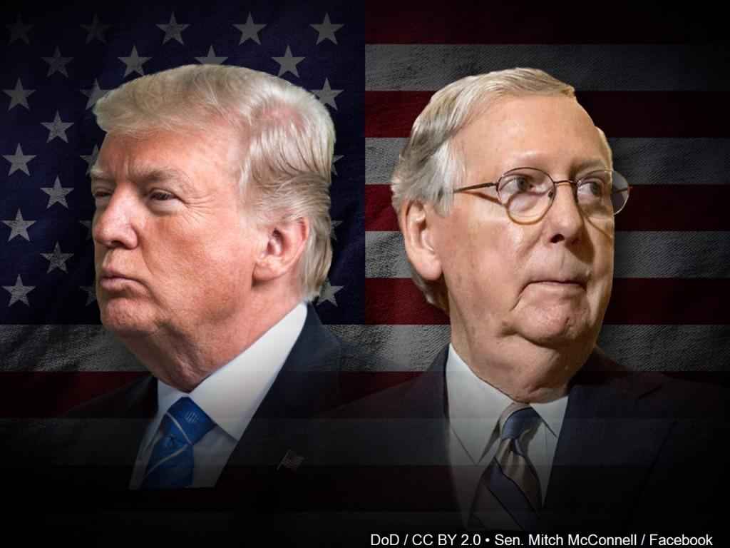 US President Donald Trump and Senator Mitch McConnell