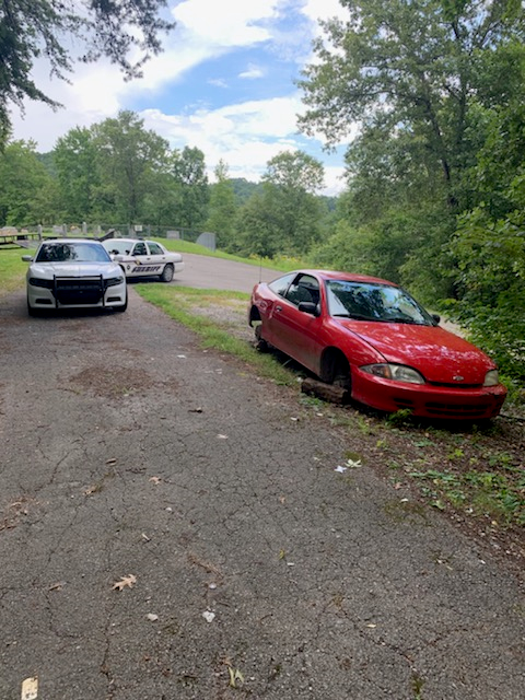 Stolen red Chevy Cavalier found abandoned a day after being taken from a business parking lot in London 7-30-19