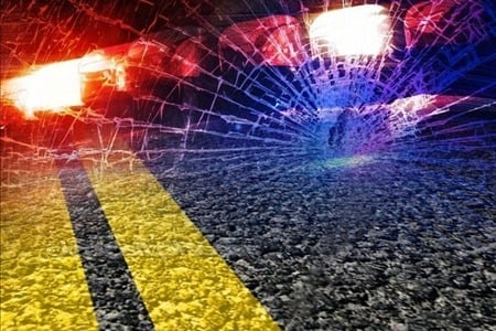 police lights road accident graphic
