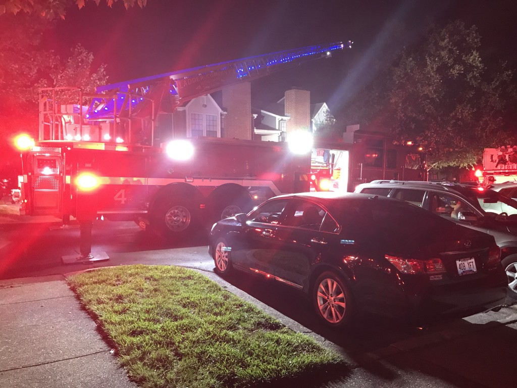 Fire at Mansion Apartments in Lexington