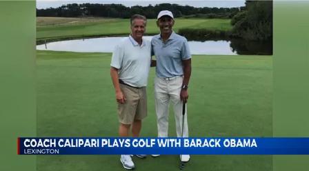 Coach Cal and Former President Barack Obama