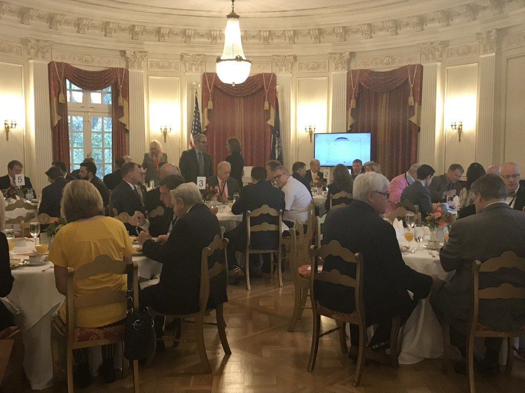 Trade and investment in Kentucky took center stage Tuesday morning at the Governor's Mansion.