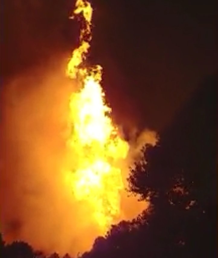 Gas line explosion in Lincoln County.