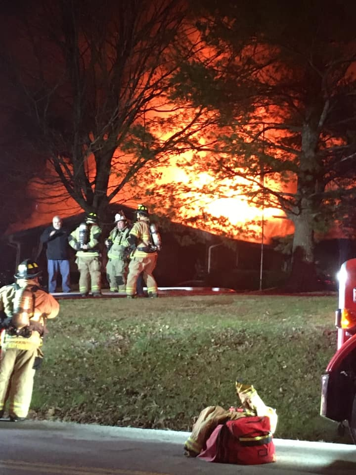 A house fire in Madison County on College Hill Road left a homeowner with burns.