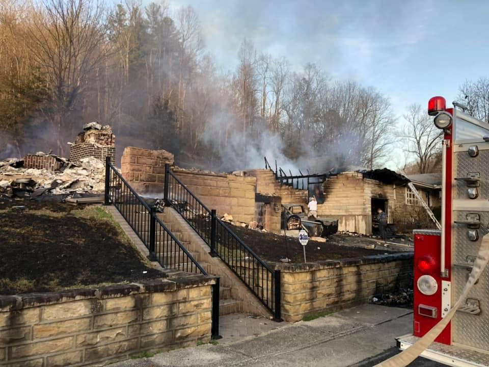 Two homes destroyed