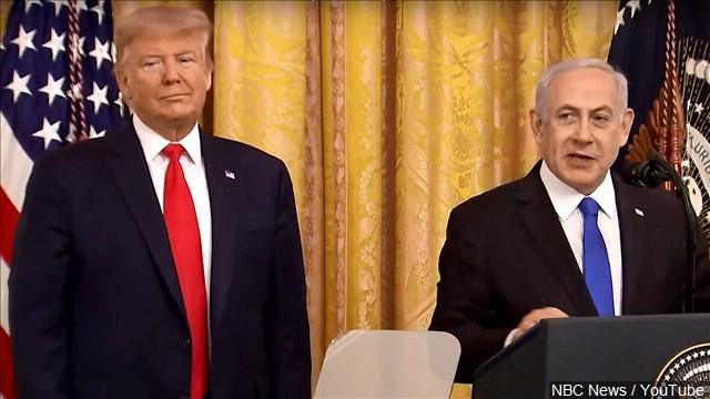 President Trump and Israeli Prime Minister Benjamin Netanyahu announce Mideast Peace Plan at The White House