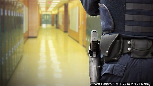 armed officers in school