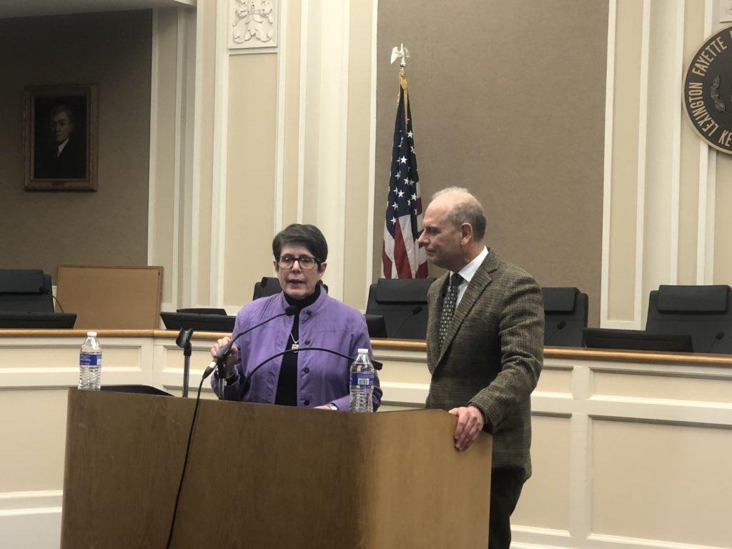 Mayor Linda Gorton and Dr. Kraig Humbaugh confirm the first Coronavirus case in Lexington