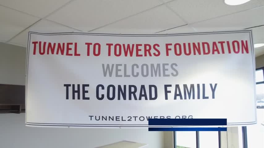 Tunnel to Towers Gold Star home dedication in London 3-10-20 to Holly Conrad who is the widow of Army Sgt. Tim Conrad