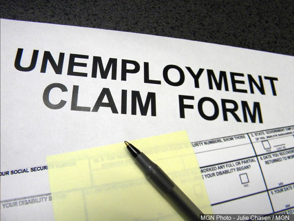 Unemployment claim form via MGN Online