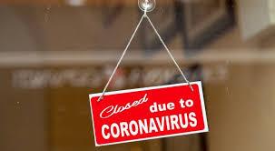 Coronavirus Closed sign on business