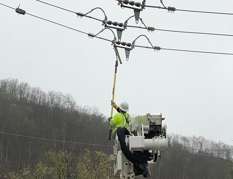 Kentucky Power repair crews restoring power in eastern KY after severe wind damage from 4-12-20
