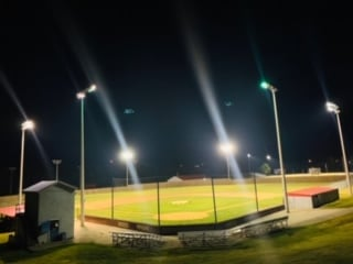 Light up Lincoln County 4-22-20.  Lights turned on at baseball