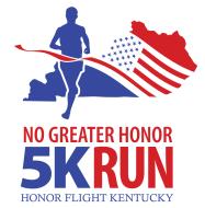 No Greater Honor 5K Run logo benefitting Honor Flight Kentucky in May 2020