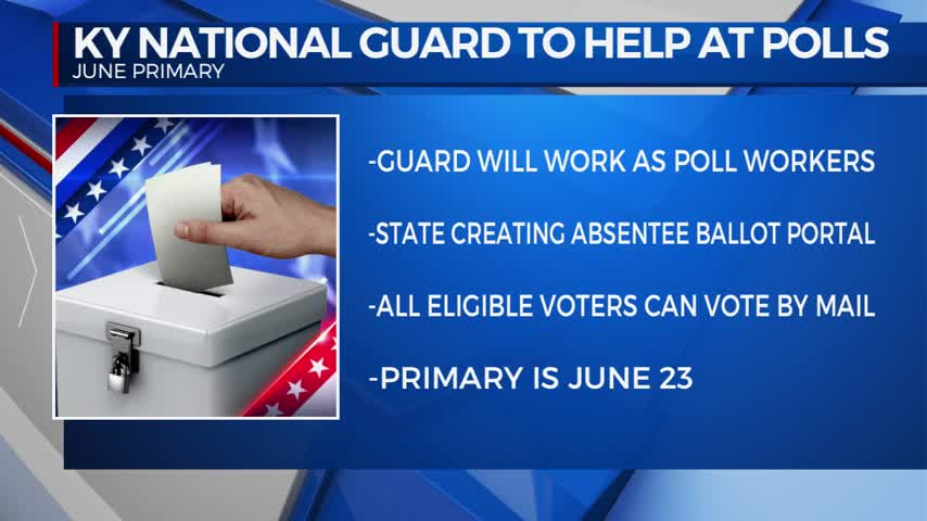 Kentucky National Guard will serve as poll workers