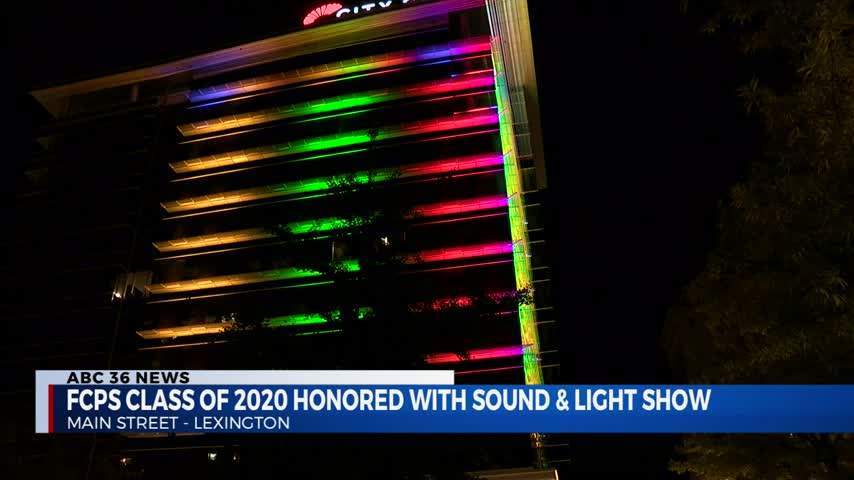 Fayette County Public Schools Class of 2020 honored with sound and light show at City Center in downtown Lexington on the last day of school 5-27-20