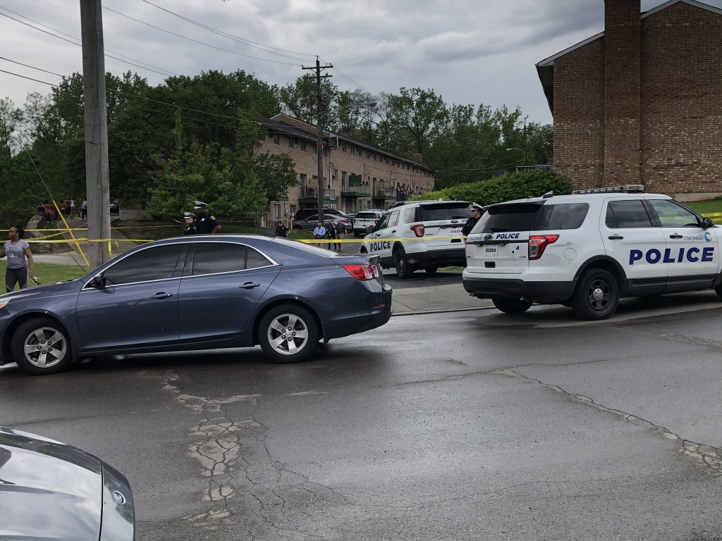 8-year old child shot in Cincinnati 5-17-20 (scene from WCPO-TV)