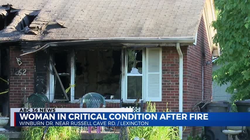 Woman critically injured in house fire on Winburn Drive in Lexington 6-3-20