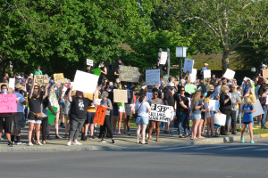 Protest in downtown Danville 6-2-20.  Photo courtesy:  Advocate-Messenger