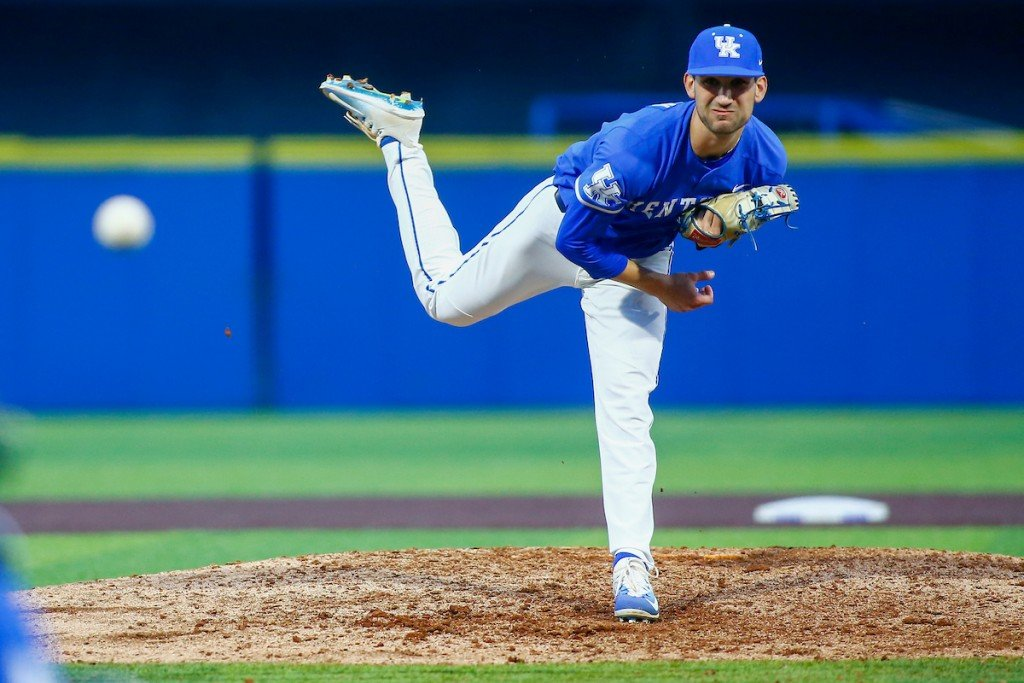 UK relief pitcher Carson Coleman
