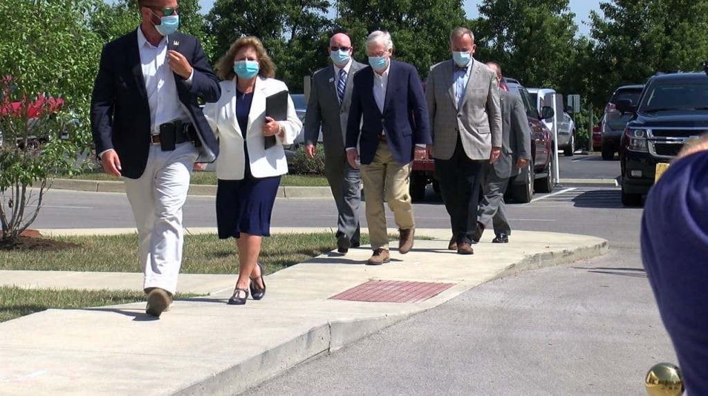 Sen. Mitch McConnell at Harrison Memorial Hospital