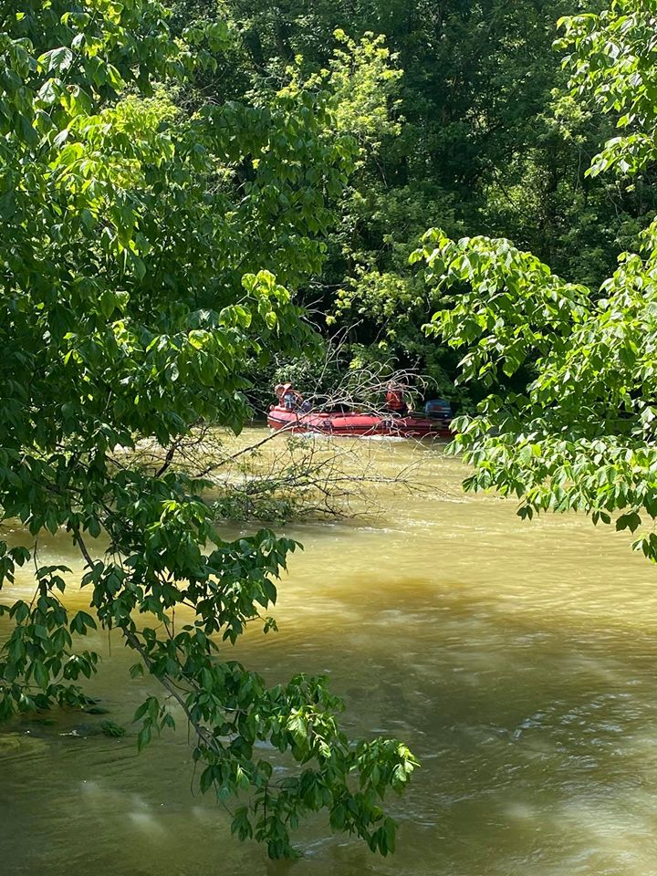 Person rescued from Salt River by Taylorsville-Spencer County Fire Protection District...photo courtesy of the district