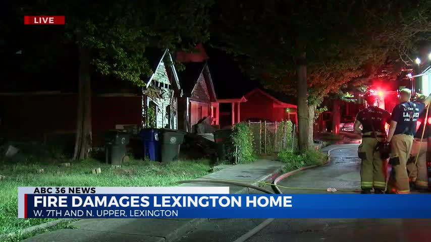 House caught fire near the corner of W. Seventh Street and N. Upper Street in Lexington on 8-30-20 (exterior shot)