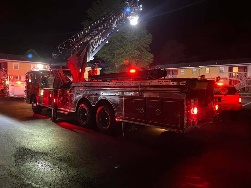 The Dempsey Housing building in Warfield (Martin County) caught fire overnight on 8-16-20.  It is a low-income housing facility.