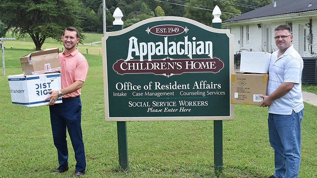 Union College Athletics donated authentic apparel to Appalachian Children's Home 8-26-20