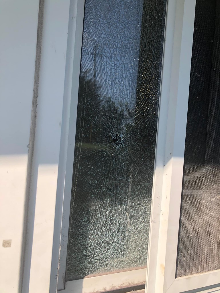 A bullet was fired into a home in the 100 block of Scroggins Park Drive in Georgetown on the evening of 9-8-20.  No one was hit or hurt.