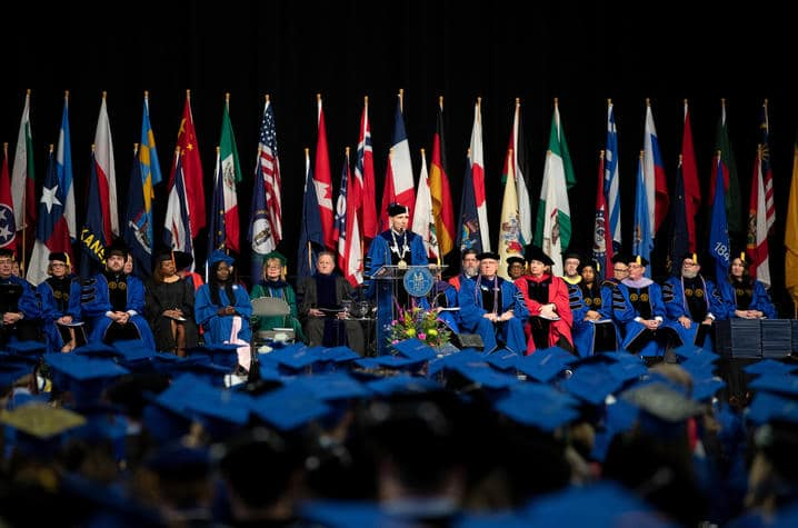 Unlike the December 2019 Commencement Ceremony pictured here