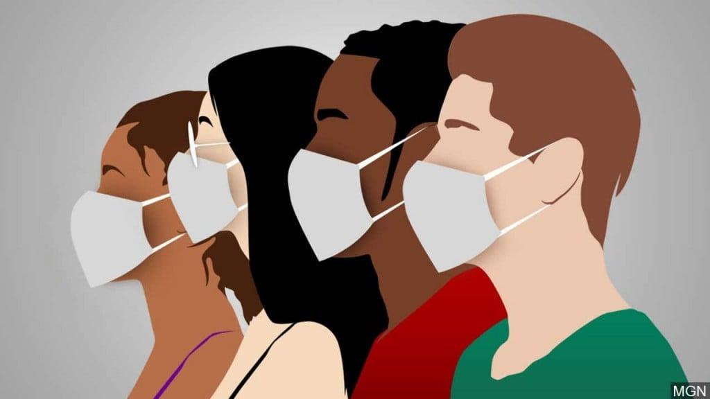 coronavirus mask graphic