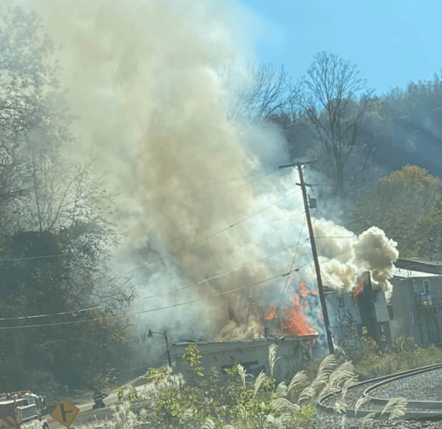 Abandoned apartment building in Perry County on Christopher Road catches fire 11-4-20