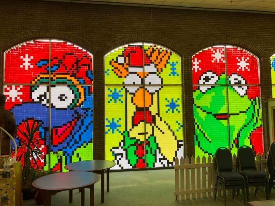 Muppets Christmas display