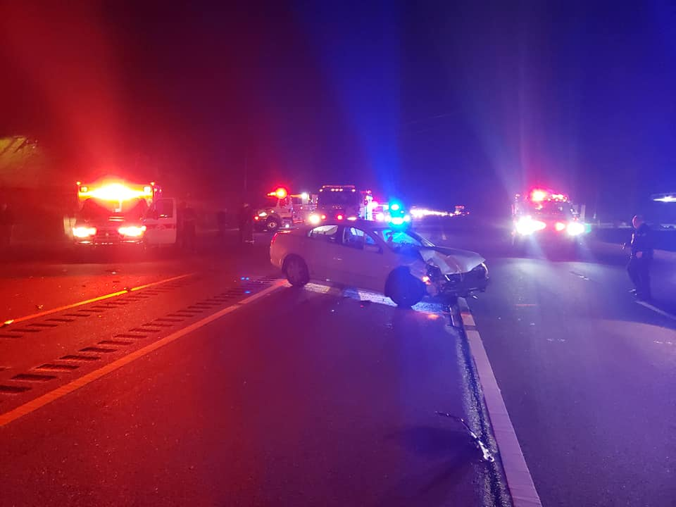 US 23 at Campbell Branch in Johnson County was shutdown following a crash with injuries on 12-18-20