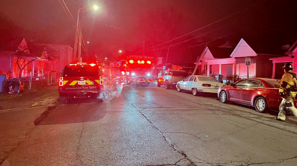 House fire at 404 E. Fifth Street in Lexington 12-17-20