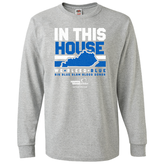 Big Blue Slam T-Shirt for 2021 blood donor competition with Florida in late January 2021