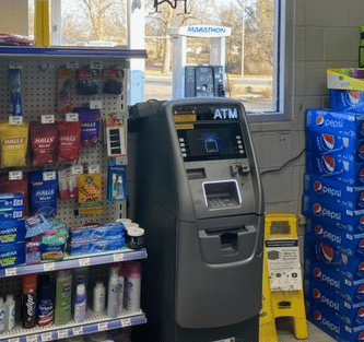 Burglars broke out window of Food Mart on Bryan Station Road in Lexington around 5am on 1-13-21 and stole a bitcoin machine.  All caught on security camera.  This is a photo of the machine prior to it being stolen
