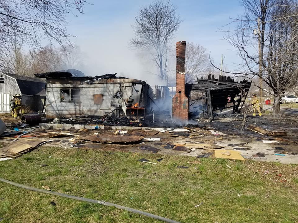 Vacant home destroyed by fire on Sampson Street in Corbin on 3-10-21