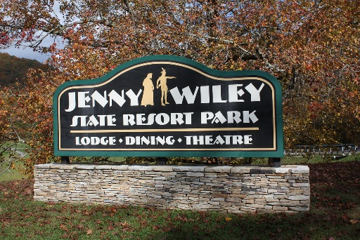 Jenny Wiley State Resort Park sign